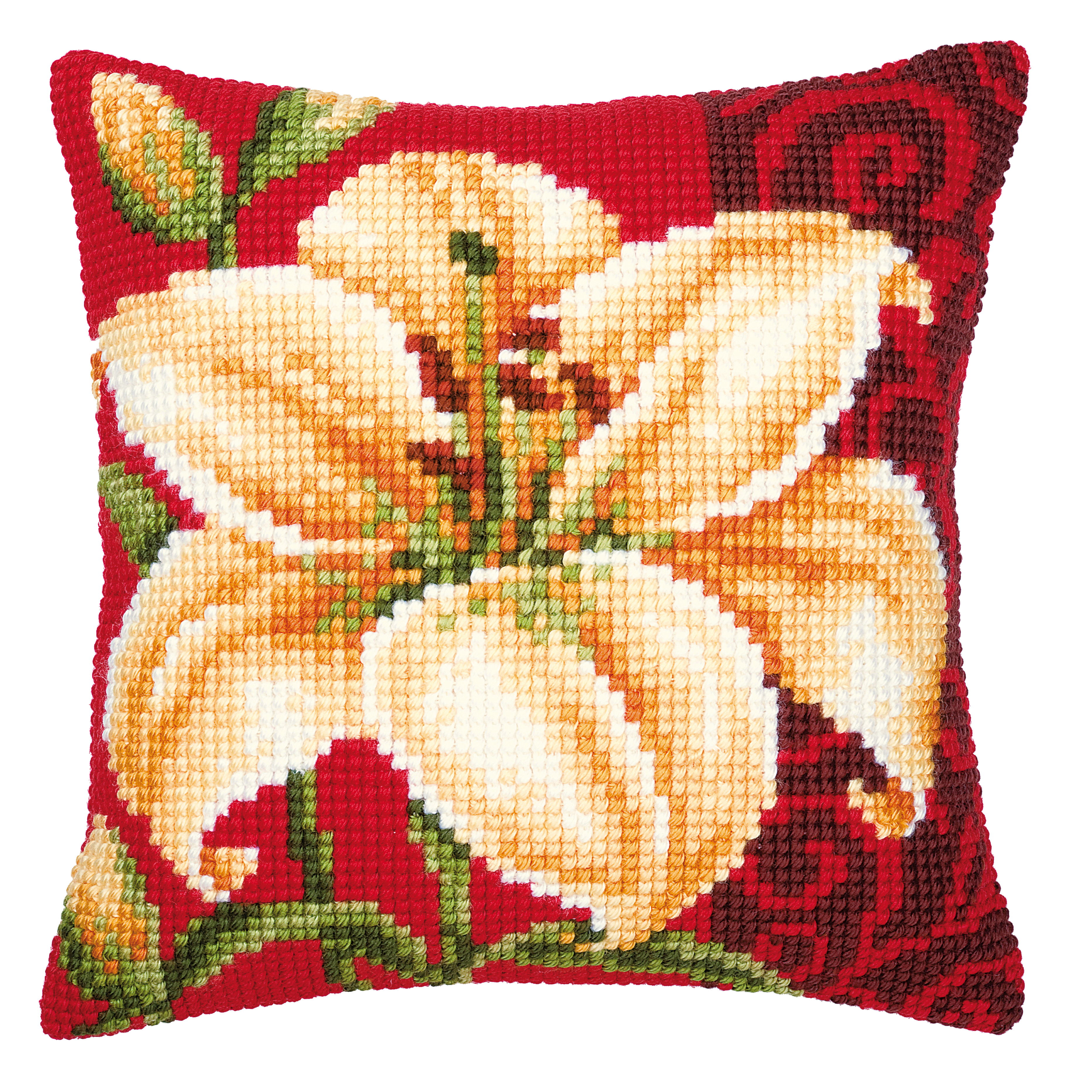 1x Cross Stitch Kit Coussin Tiger Lily Sewing Craft Outil Hobby Art Uk-afficher Le Titre D'origine